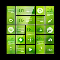 Modern glass geometrical design template