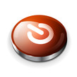 Vector red glossy power button icon