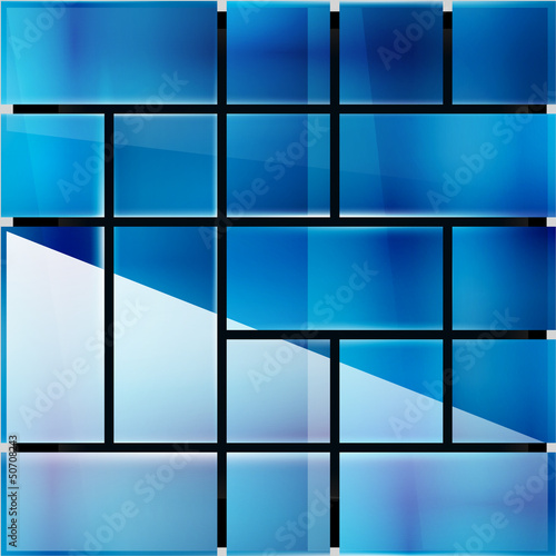 Glossy glass surface geometrical modern template