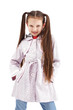 Beautiful little girl posing in fashionable coat