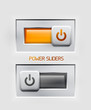 Vector power sliders modern icons