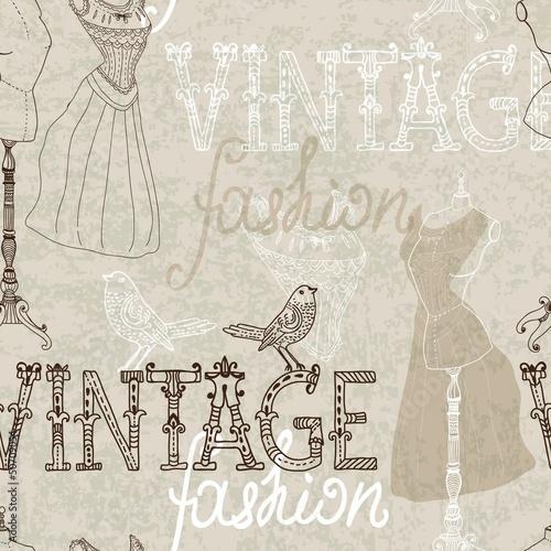 Seamless Vintage background with retro dummy - 50709054