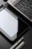 Laptop, tablet, fountain pen