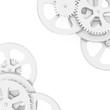 under the mechanism of gears