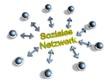 3D Goldzeichen - Soziales Netzwerk
