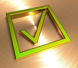 3D Goldzeichen II - Okay