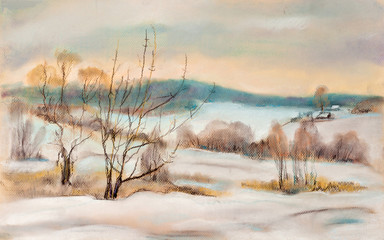 Winter landscape.