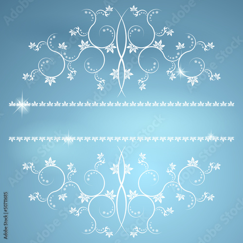 Frame with monograms for design and decorate.