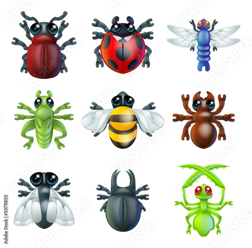 Insect bug icons