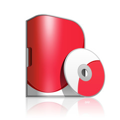 Red Software Box With Rounded Corners