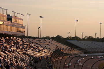 Race Track at sunset