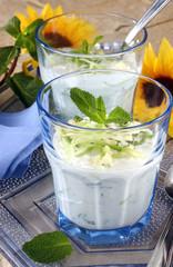 verrine de concombre et raifort au yaourt 2