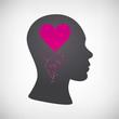 Kopf mit Herzen