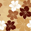 Seamless patterns with flowers. Vector illustration.