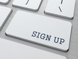 Sign Up Concept.