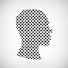Kopf punktiert