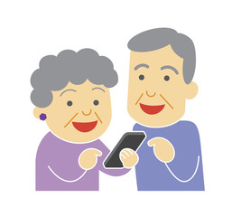 Senior to use a smartphone
