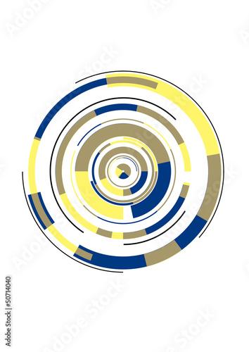 3d, Kreise, Hintergrund, Muster, Karte