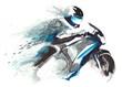 Leinwanddruck Bild - motorcycle racer