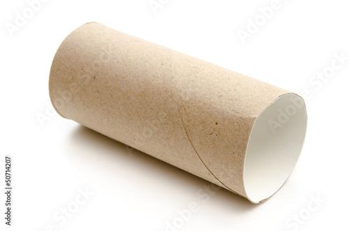 Leere Toilettenpapierrolle