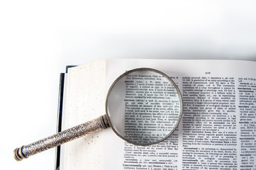 A magnifying glass on the word success