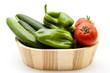 Grüne Paprika mit Gurken