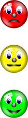 Ampel Smiley Set