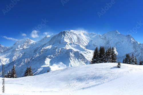 canvas print picture France - Mont-blanc (vu du Prarion)