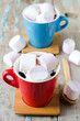 Marshmallow in the Cup with coffee