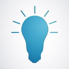 Vector Illustration of an Abstract Light Bulb