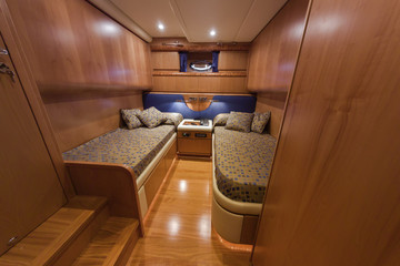 Italy, Naples, RIZZARDI 73HT luxury yacht, guests bedroom