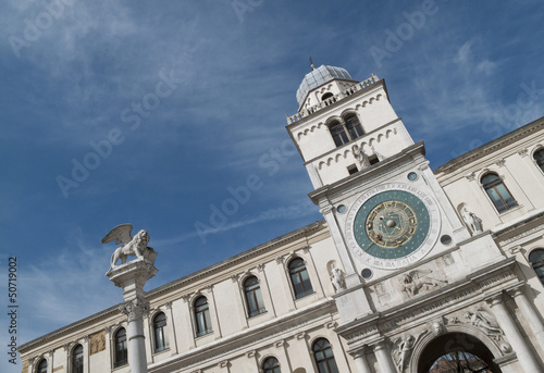 Italy, Padua:  Ancient clock tower