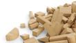 Bauklötze aus Holz - wild gemischter Haufen 5