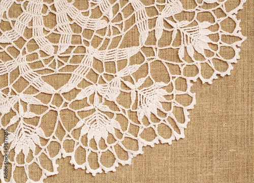 Lace on canvas