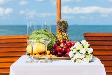 Свадебный ужин на пляже