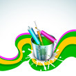 Indian colorful festival Holi celebration background.
