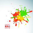 Indian colorful festival Holi celebration background with color