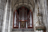 Organ in St. Pauls Church, Dinkensbuhl. Bavaria, Germany