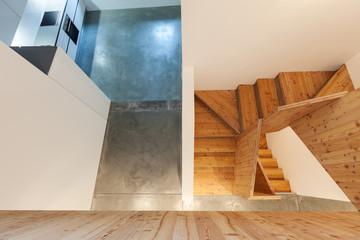 interior, wooden stairs
