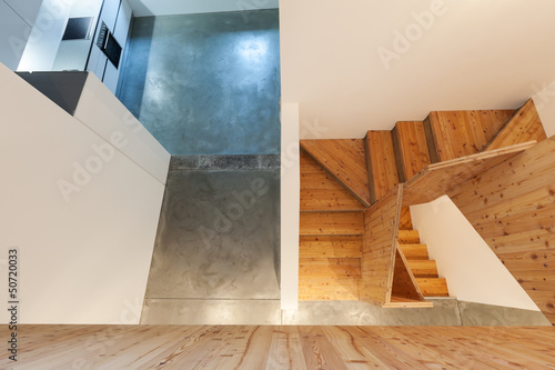 interior, wooden stairs