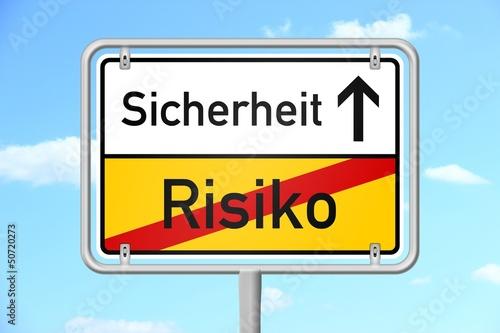ortsschild himmel v3 risiko sicherheit I