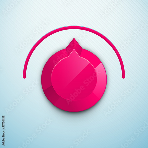 Modern Audio or video player on colorful waves background.