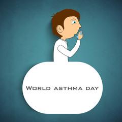 World Asthma Day background.
