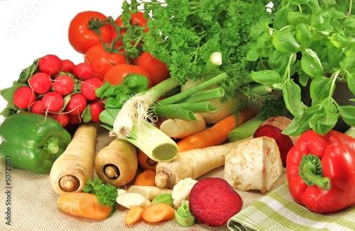 rohes Gemüse , isoliert