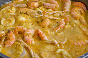 Spanish cuisine. Catalan fish stew.