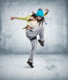 Fototapety young woman hip hop dancer