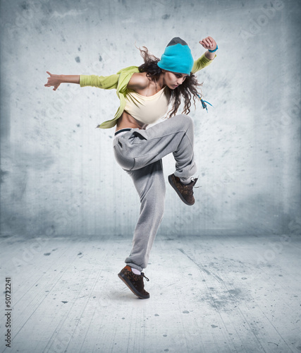 young woman hip hop dancer - 50722241
