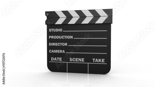 Film Production Clapper board to begin shooting
