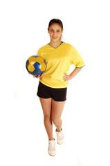 Soccer player girl.