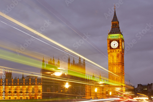 Big Ben and the Houses of Parliament, London, UK - 50724070